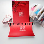 silk scarves box PX000331<br>Item:<strong>delicate Red silk scarf gift box with gift tote bag</strong><br>