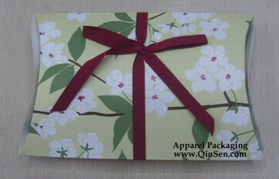 Pillow Box with ribbon for lingerie/scarf