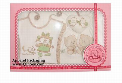 paper cardboard box with window for baby clothing packaging