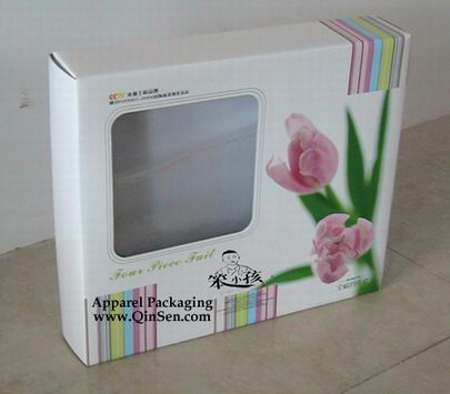 Custom Printing Quality Quilt Box with window