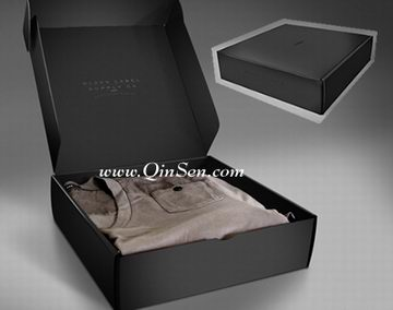 classical black packaging box with name brand for men s apparel line