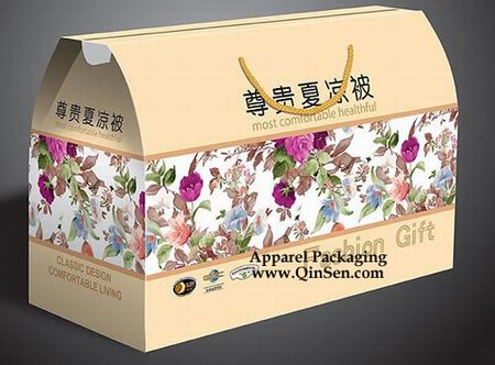 Quilt Packaging Box with Rope Design