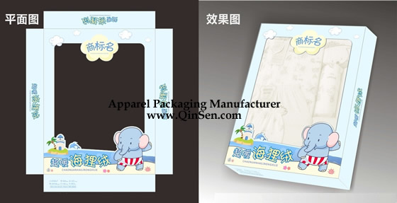 Customized Baby Clothing Box With Window Design Px000306 Baby
