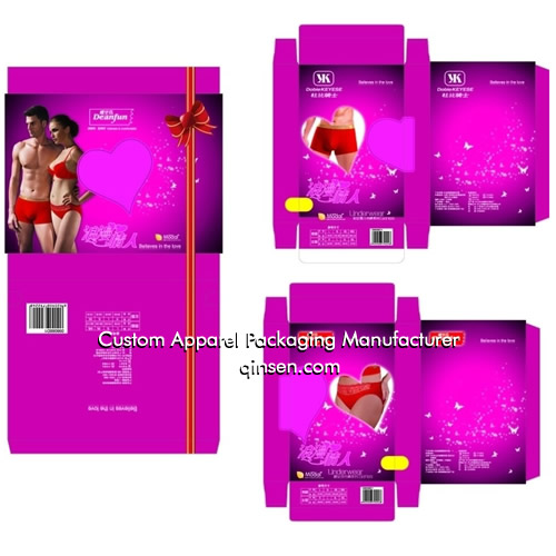 Custom Couple Lingerie Gift Box Design For Valentine Day Px000330