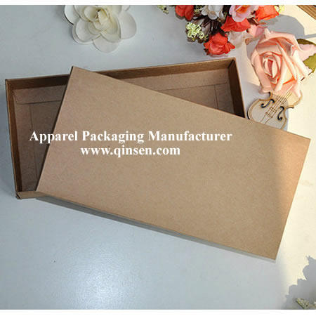 Recycled Nature Brown kraft paper box for Apparel